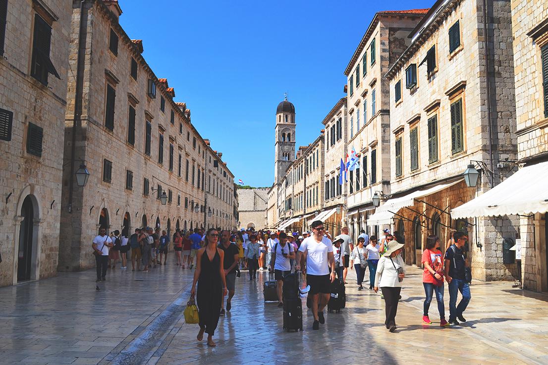 Rue de Dubrovnik, croatie