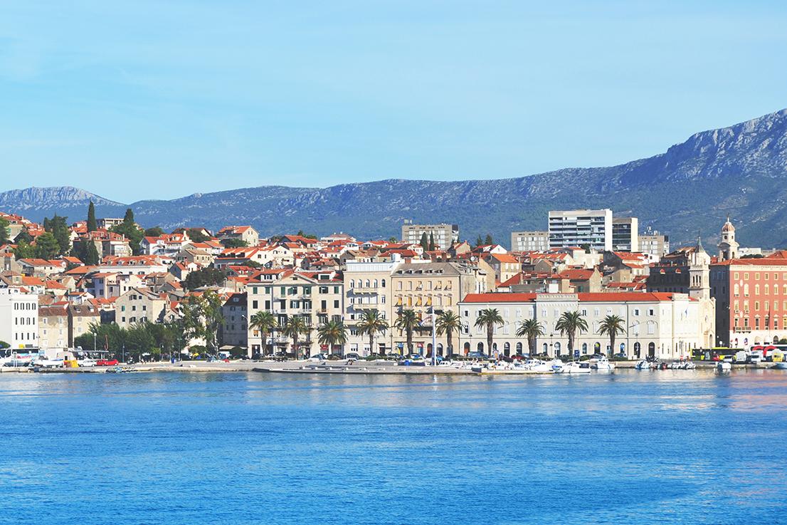 Split, vue de la mer
