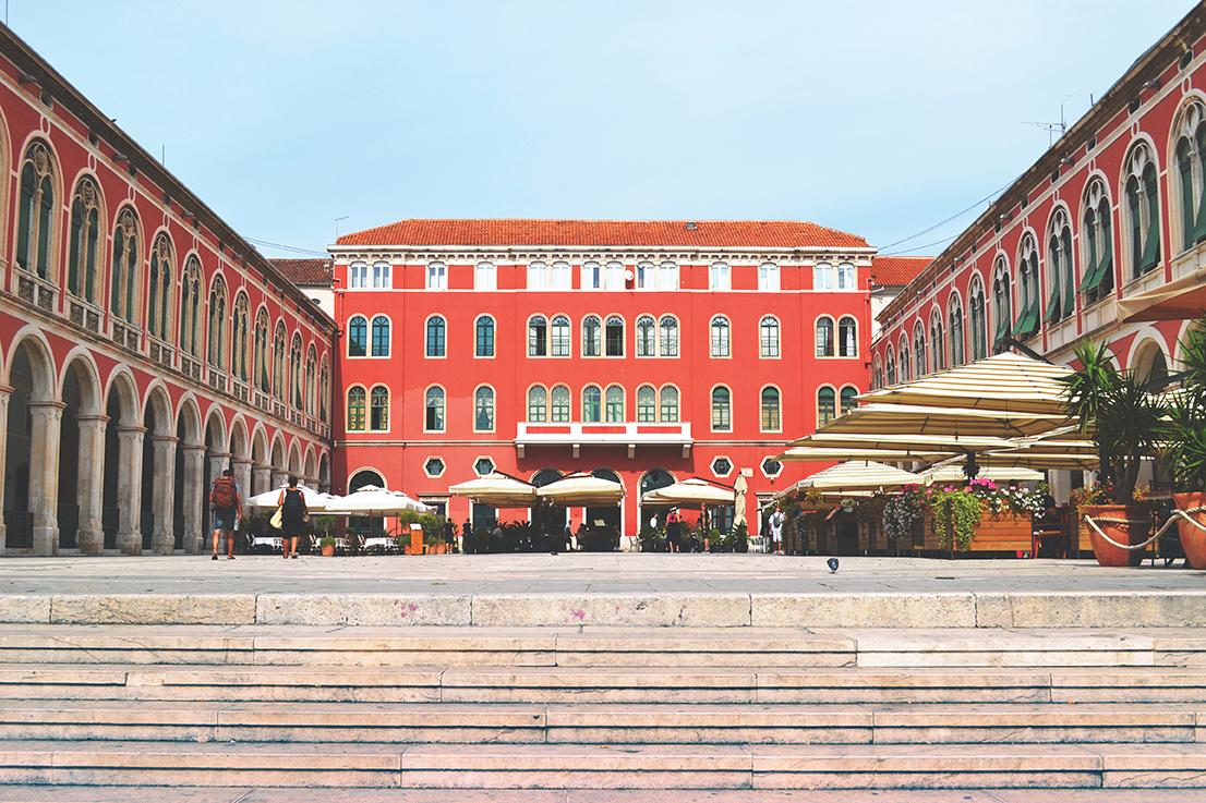 Split, Place de la République, croatie