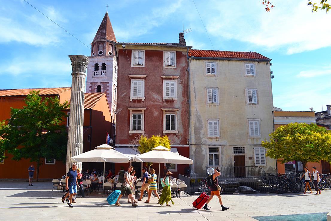 Place de Zadar, vieille ville