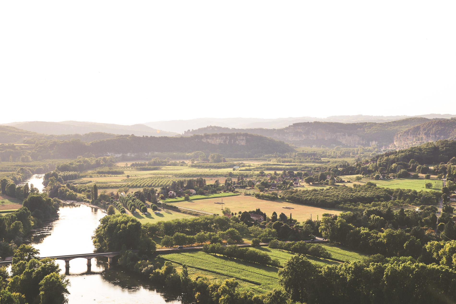 Vue sur La Vallee de la Dordogne depuis Domme