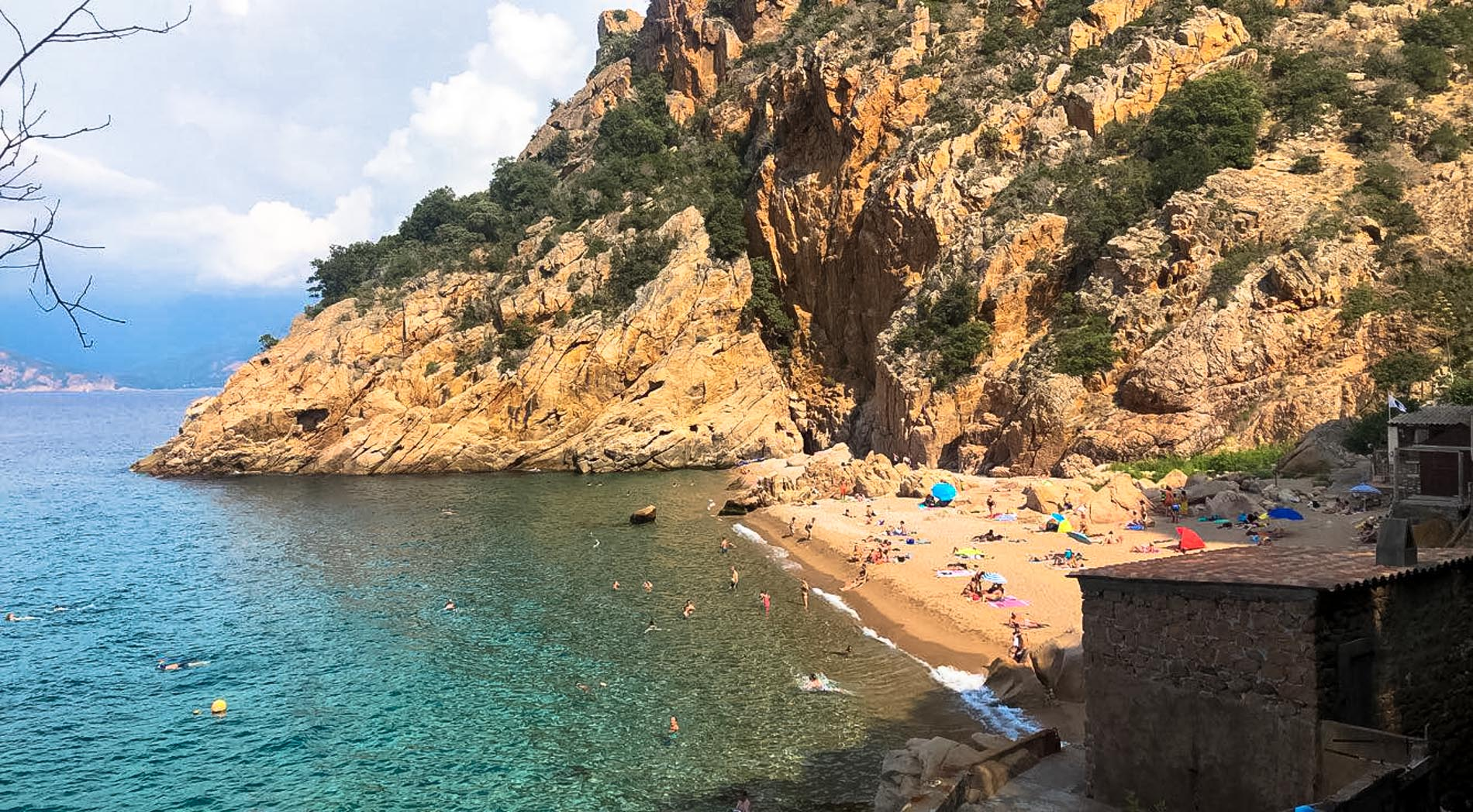 Plage de Ficajola en Corse