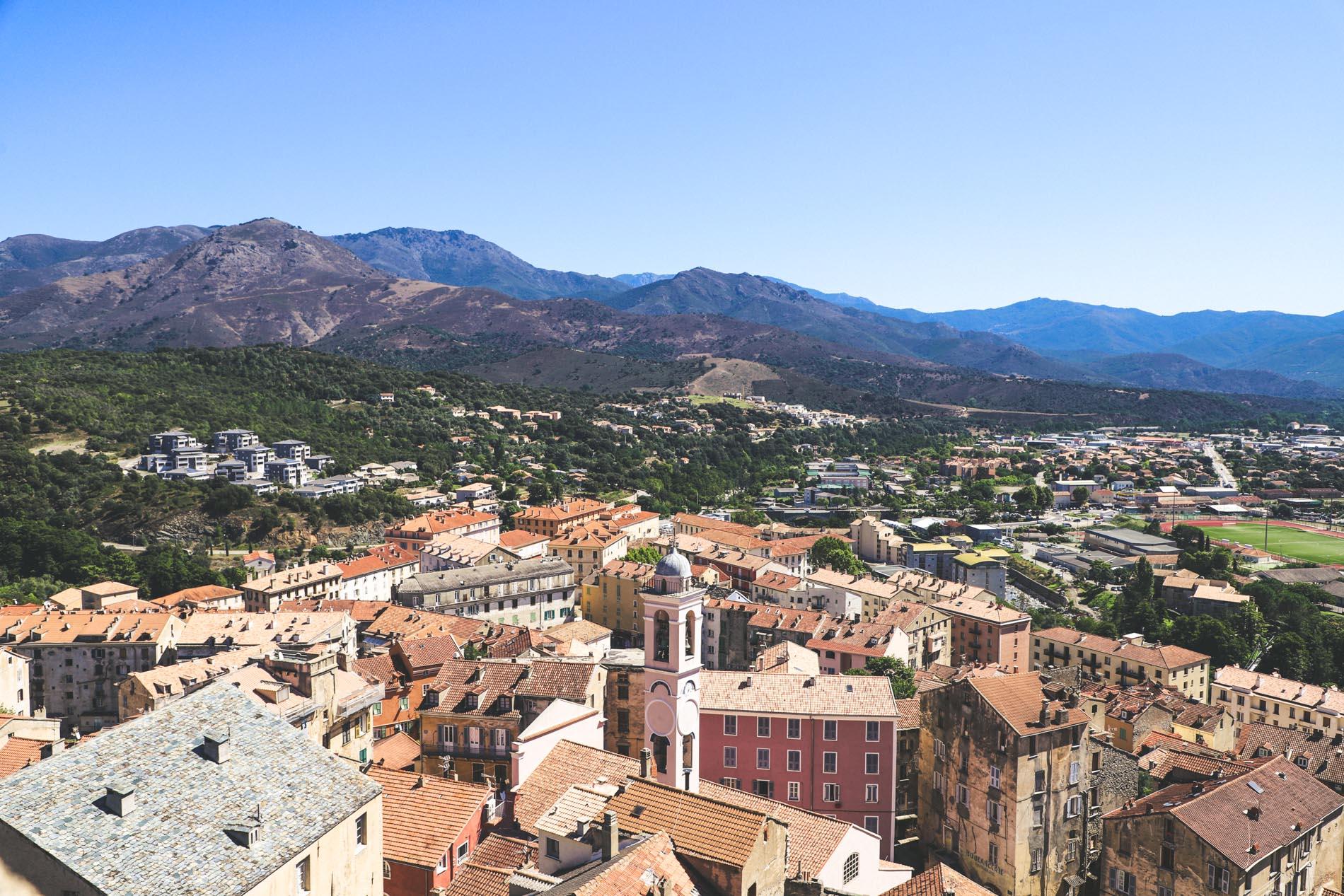 Ville de Corte en Corse