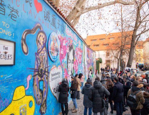 Mur John Lennon de Prague