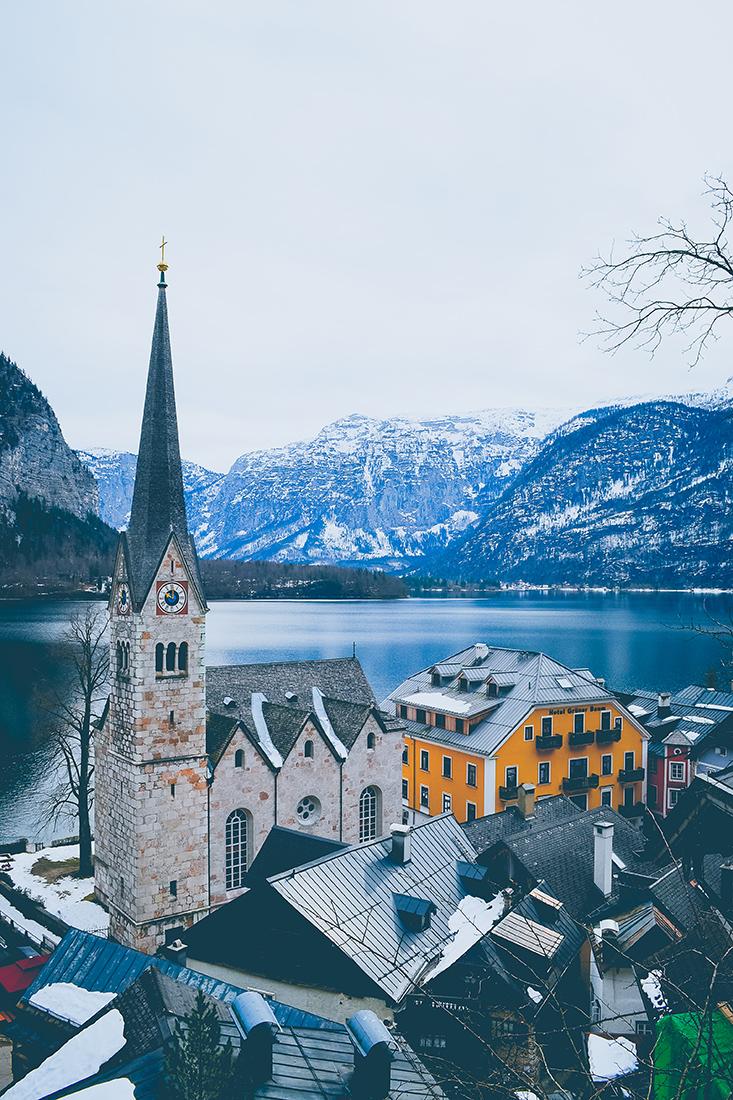 Eglise de Hallstatt en Autriche
