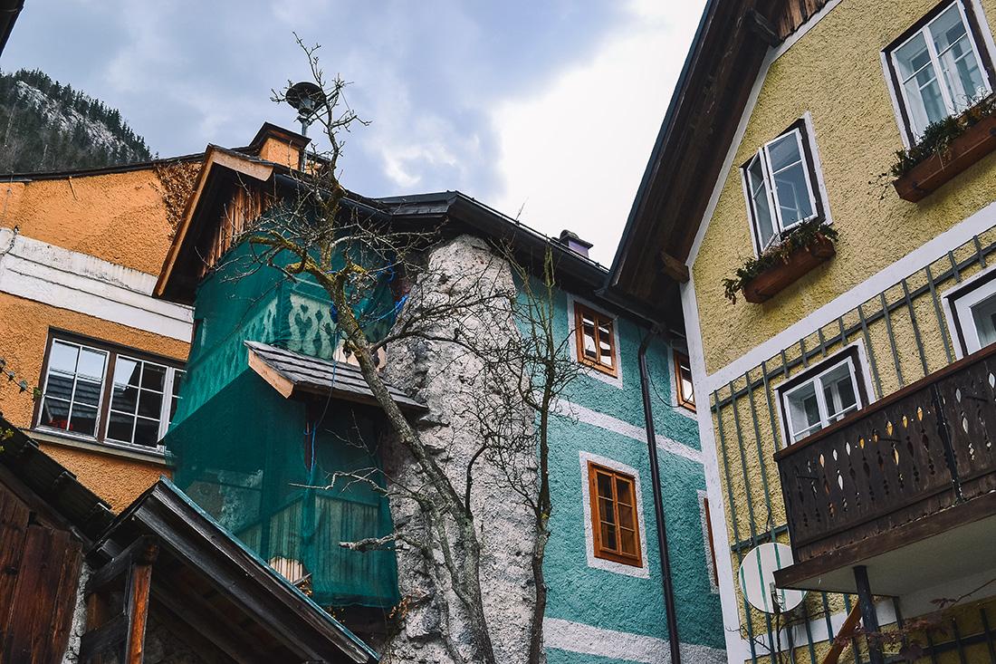 Maisons colorées Hallstatt