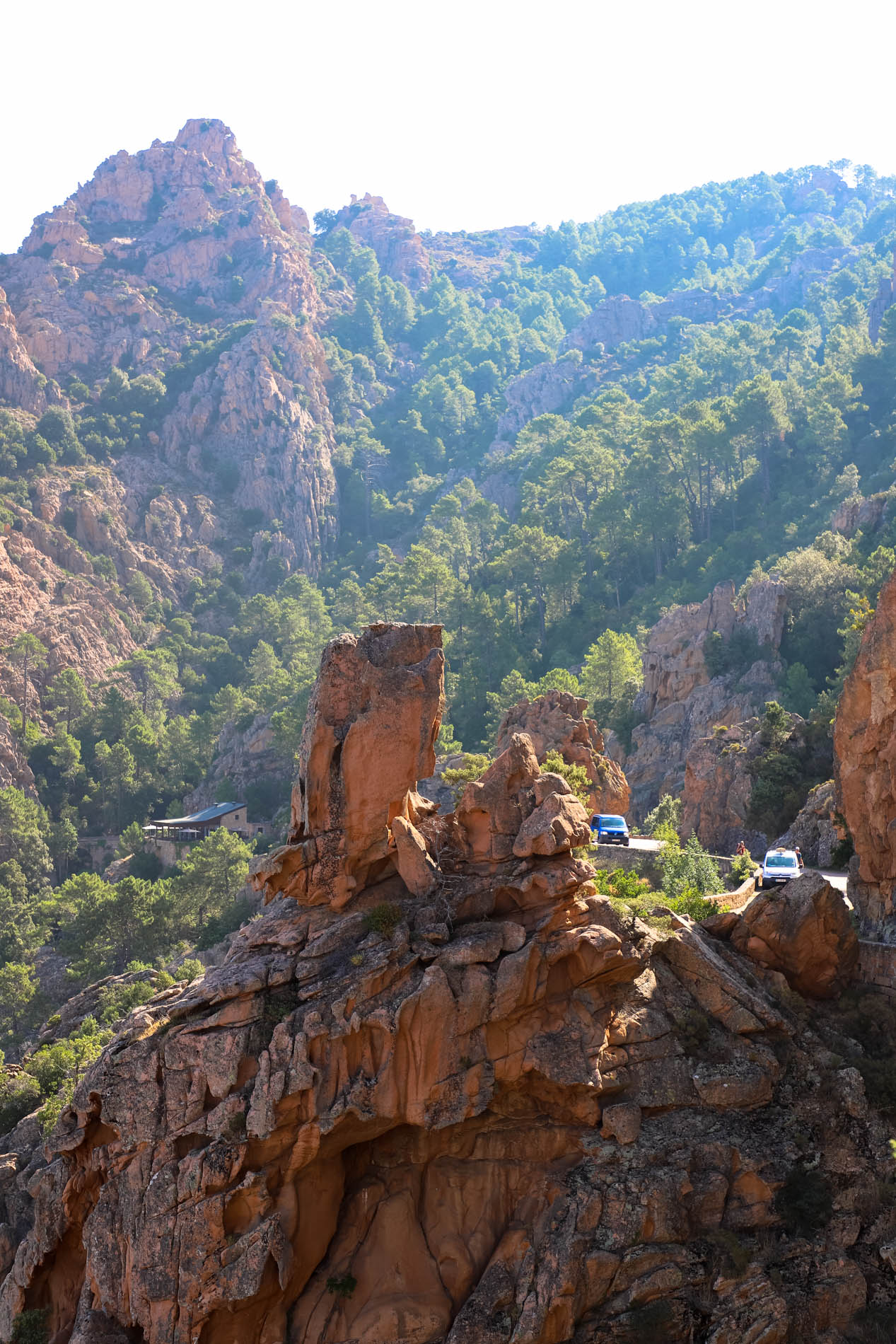 Route de Piana en Corse