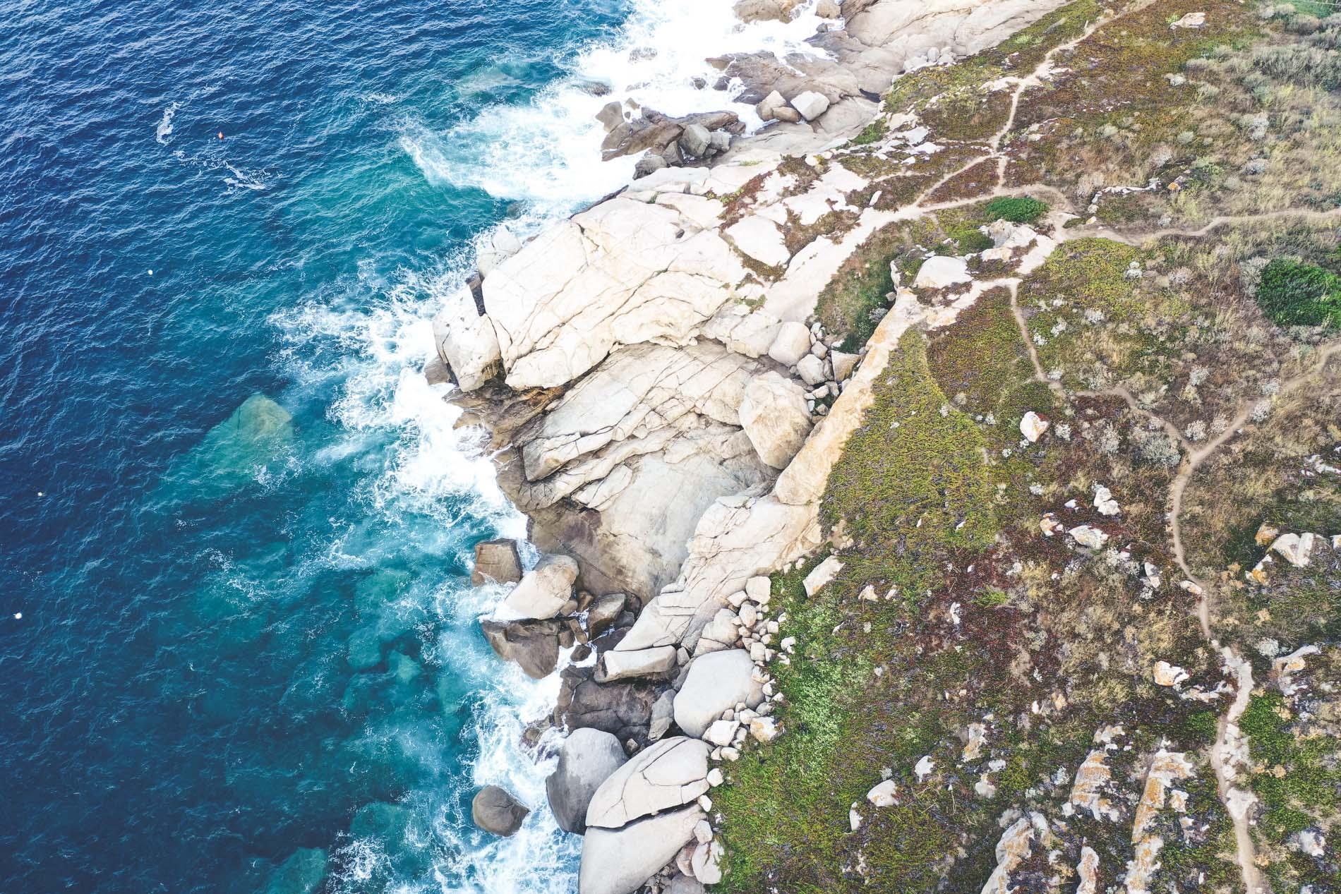 Vue sur la mer en Corse