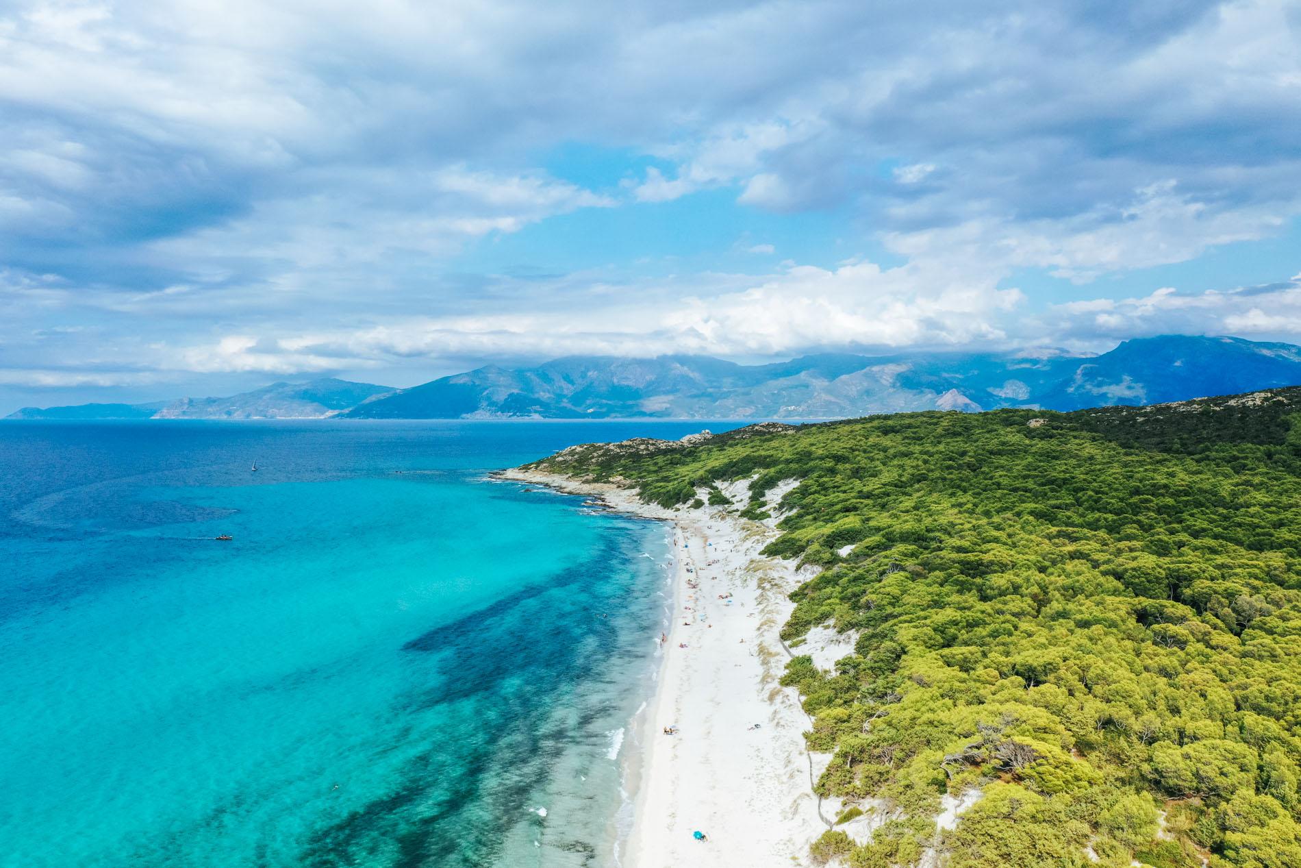 Plage de Saleccia en Corse