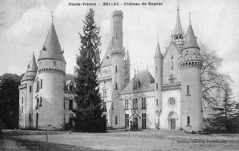 Le chateau de bagnac a Bellac