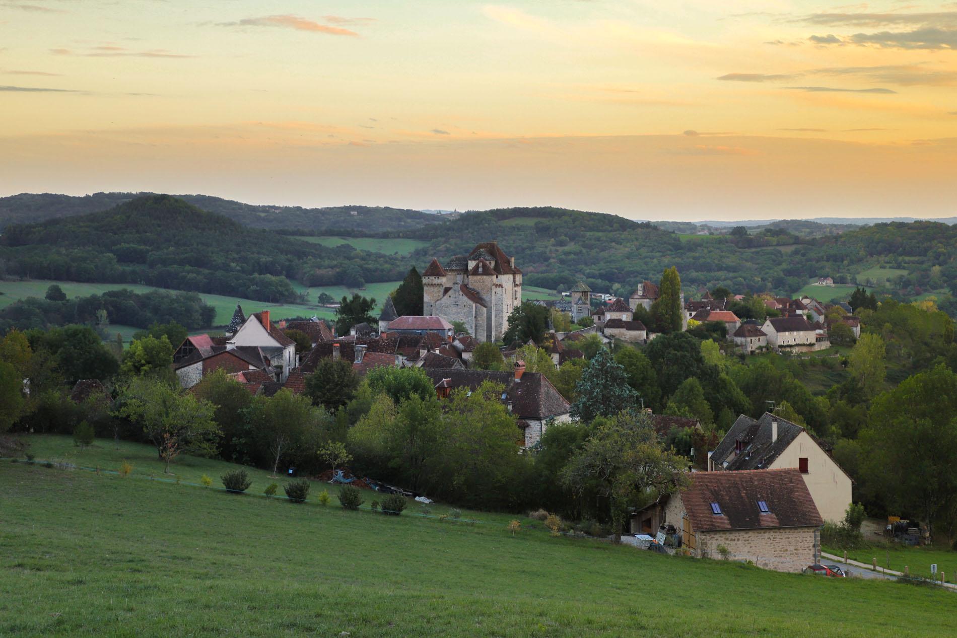 Village de Curemonte en Correze