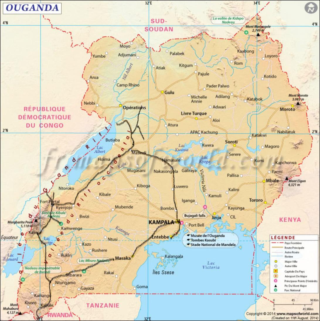 Carte-voyage-en-Ouganda