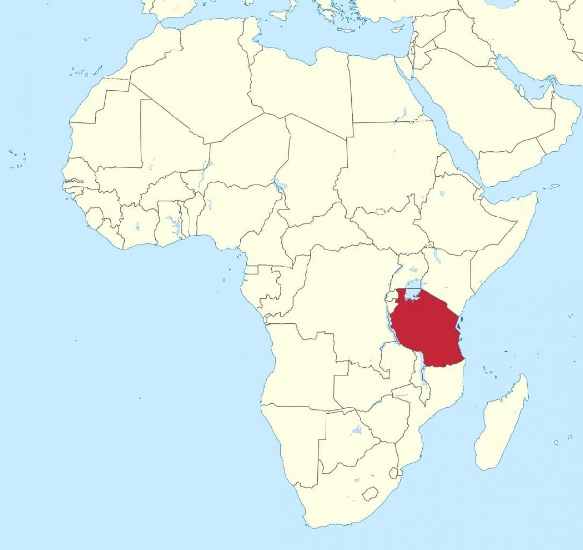 la-tanzanie-sur-une-carte-de-l'afrique